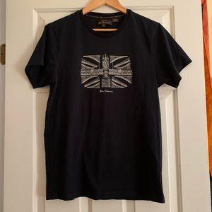 Men's Ben Sherman Black Union Jack t-shirt 🇬🇧